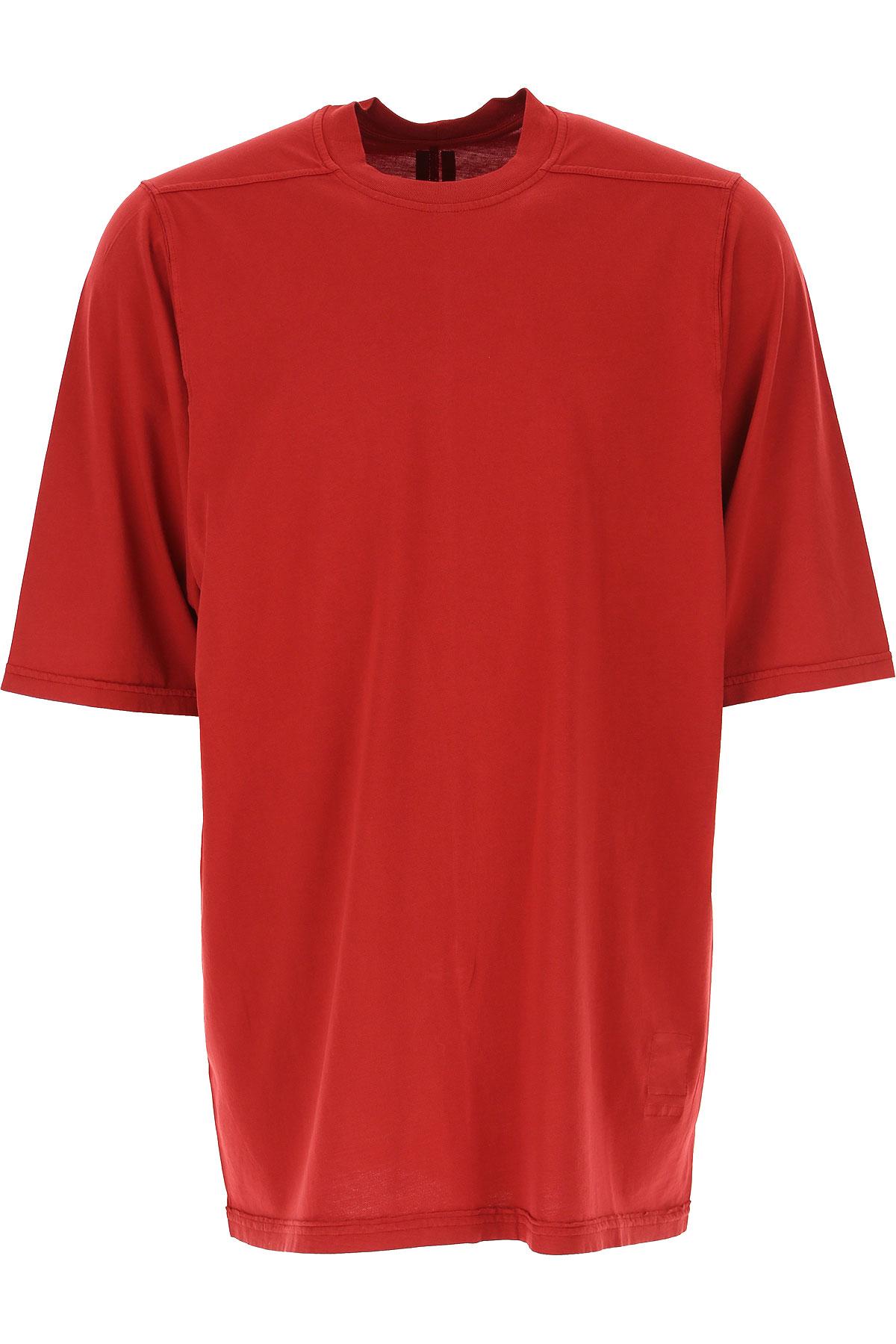 Rick Owens DRKSHDW T-Shirt for Men On Sale, Red, Cotton, 2019, M S