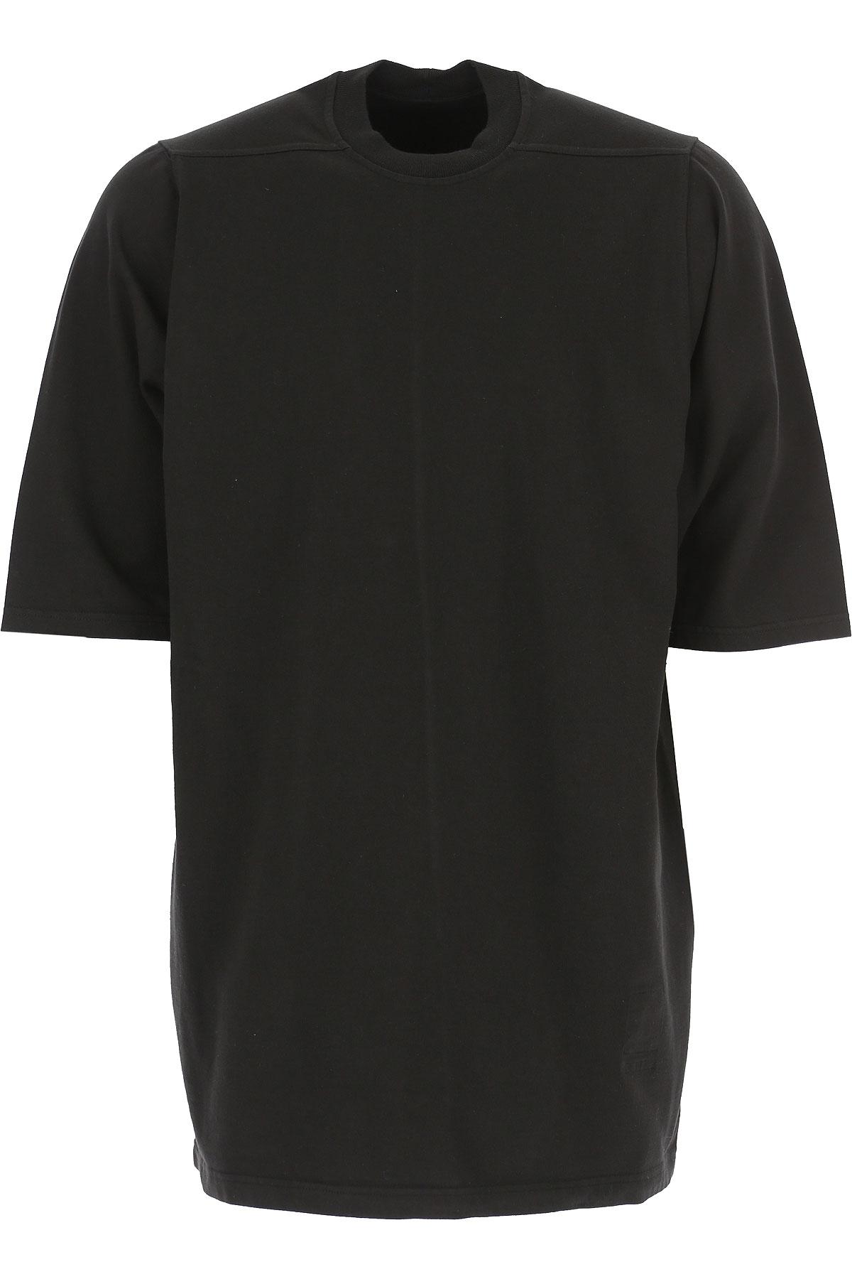 Rick Owens DRKSHDW T-Shirt for Men On Sale, Black, Cotton, 2019, L M S XS