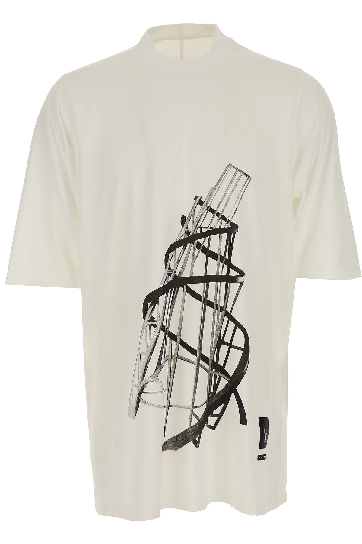 Rick Owens DRKSHDW T-Shirt for Men On Sale in Outlet, Milk, Cotton, 2019, L S XL