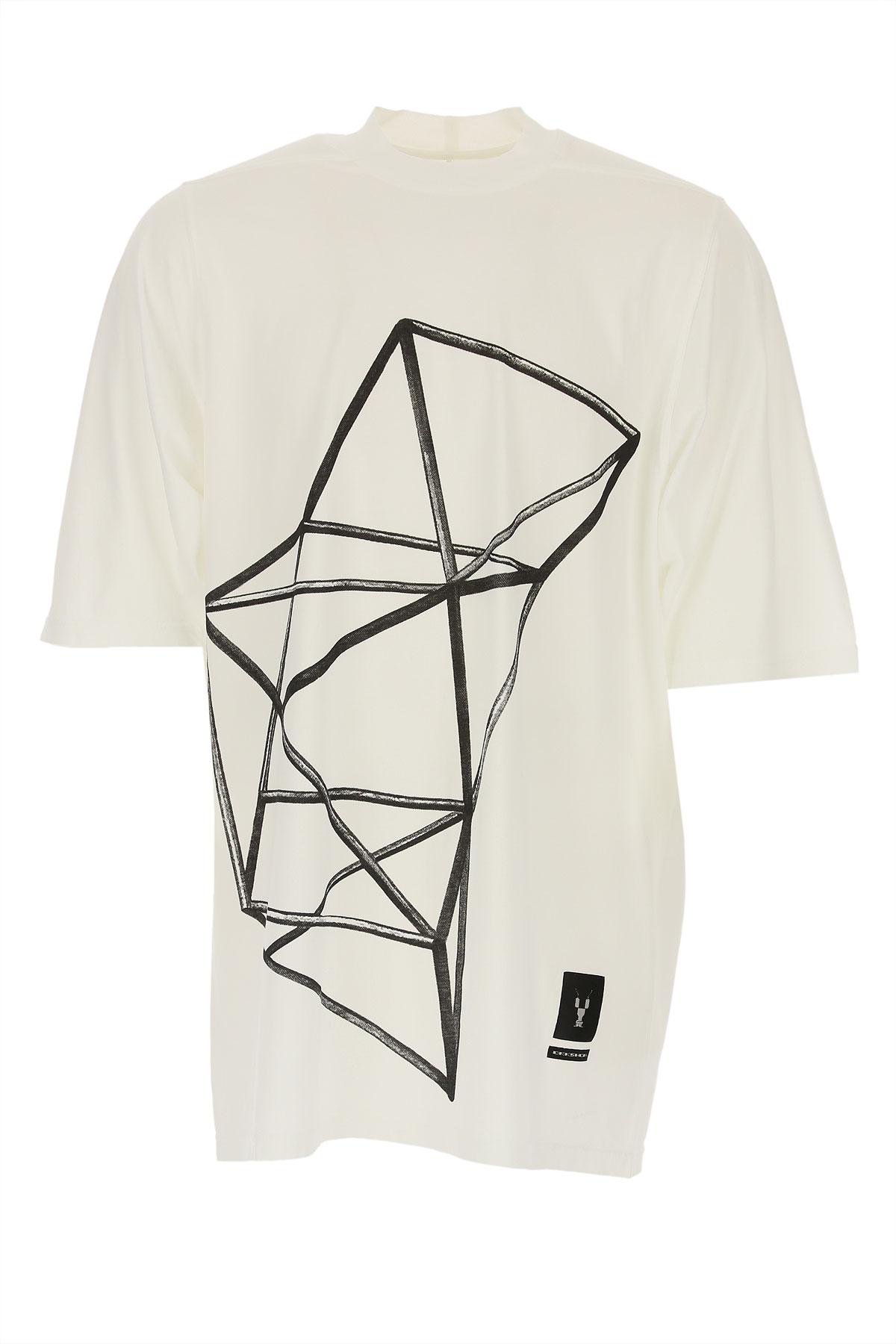 Rick Owens DRKSHDW T-Shirt for Men On Sale in Outlet, Milk, Cotton, 2019, L M S XL