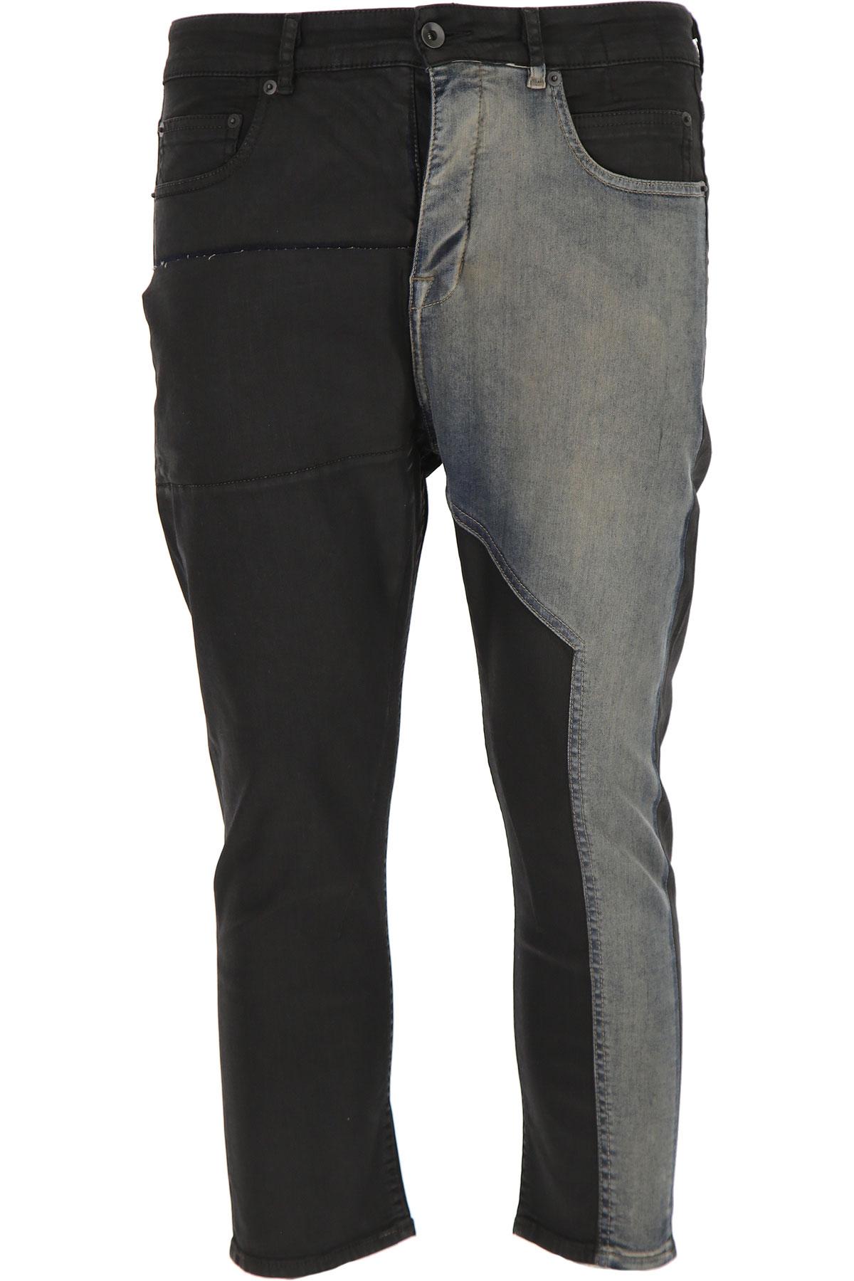Rick Owens DRKSHDW Jeans On Sale in Outlet, Black, Cotton, 2019, 31 32 33