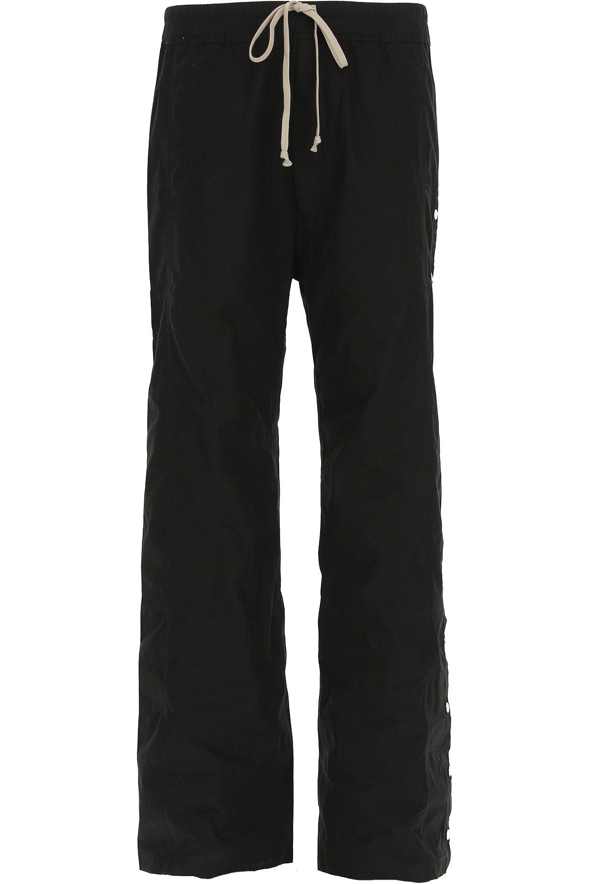 Rick Owens DRKSHDW Pants for Men On Sale in Outlet, Black, Cotton, 2019, S (EU 46) M (EU 48)