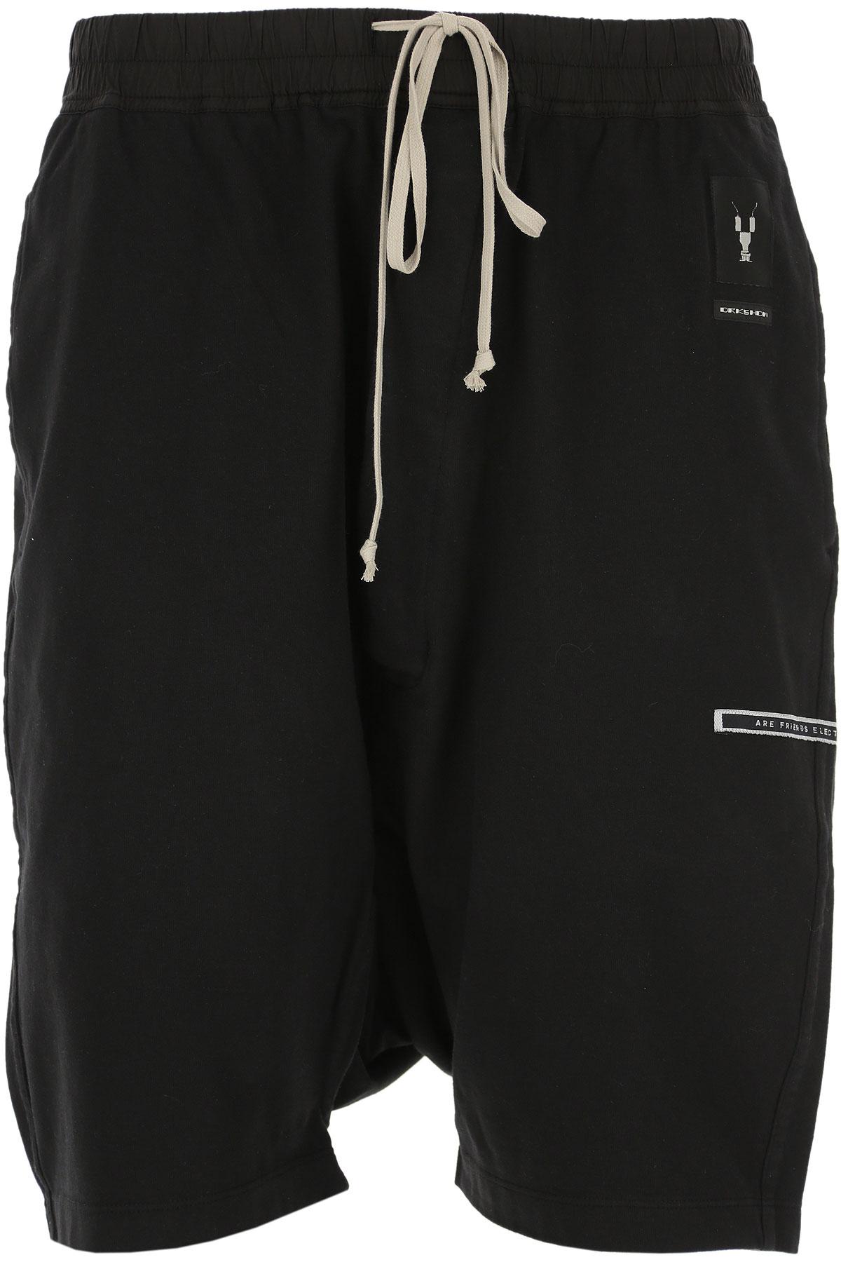 Rick Owens DRKSHDW Pants for Men On Sale in Outlet, Black, Cotton, 2019, S (EU 46) M (EU 48) L (EU 50)