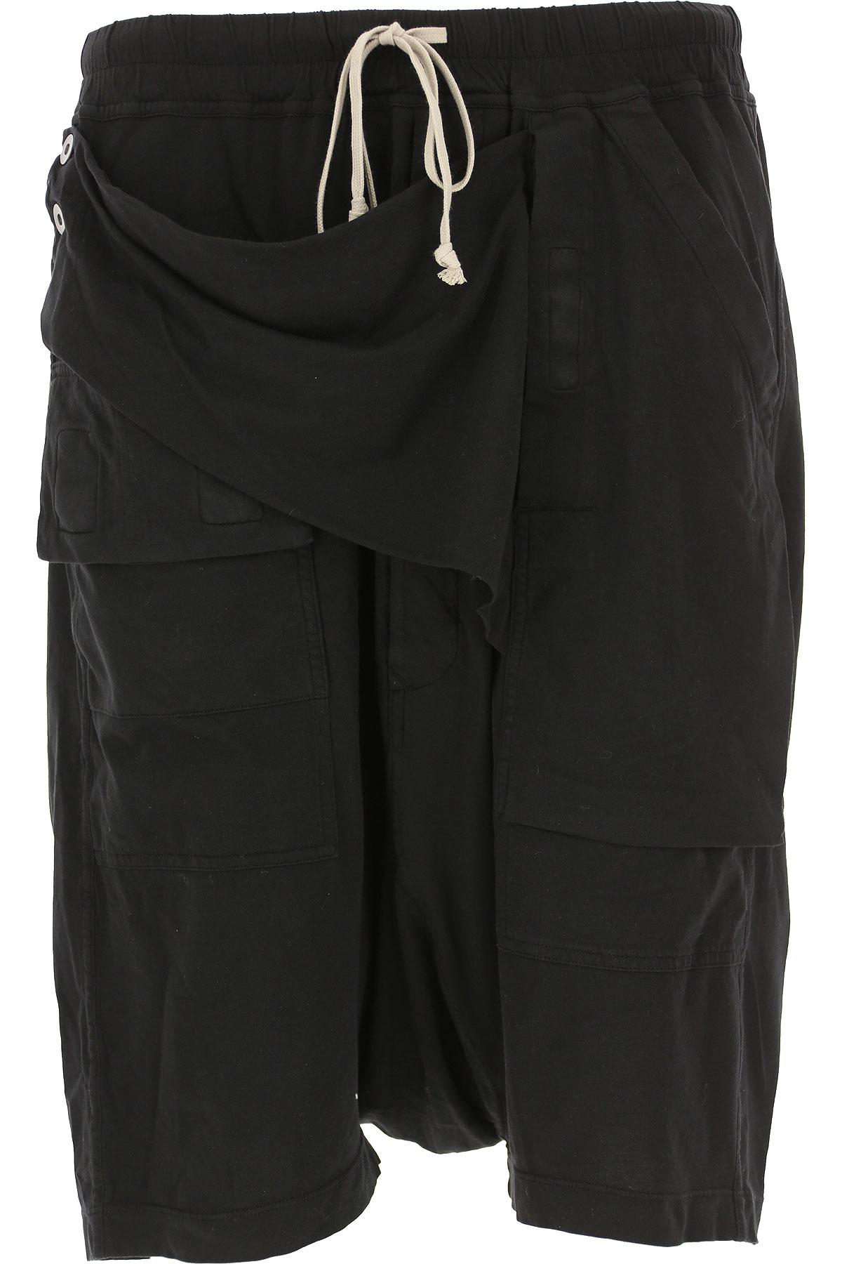 Rick Owens DRKSHDW Shorts for Men On Sale in Outlet, Black, Cotton, 2019, S (EU 46) M (EU 48) L (EU 50)