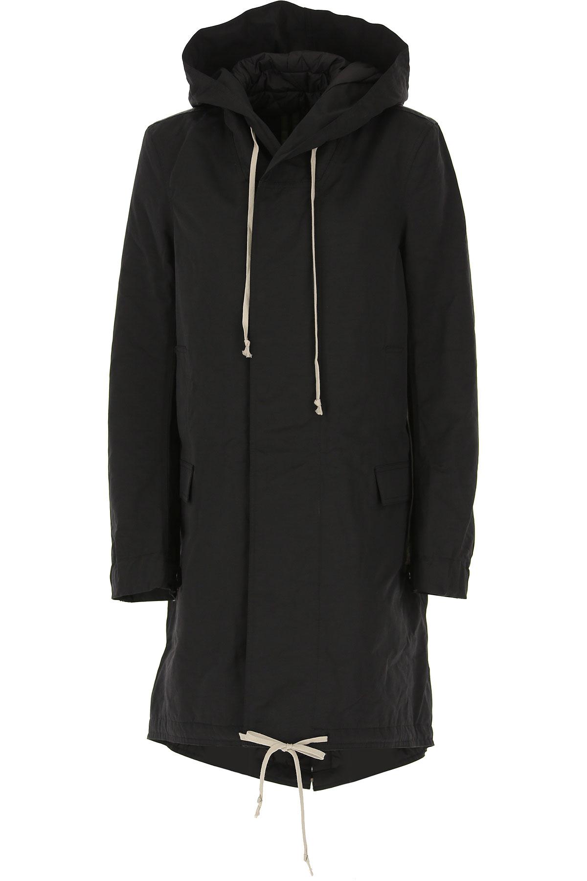 Rick Owens DRKSHDW Jacket for Women On Sale, Black, polyamide, 2019, 2 6