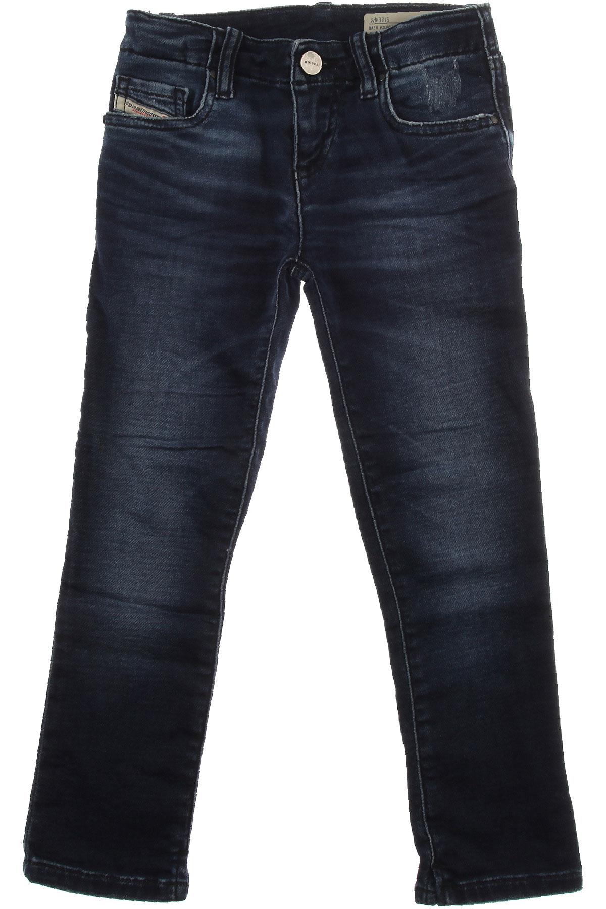 Image of Diesel Kids Pants for Boys, Denim, Cotton, 2017, 10Y 14Y 16Y 4Y 6Y 8Y
