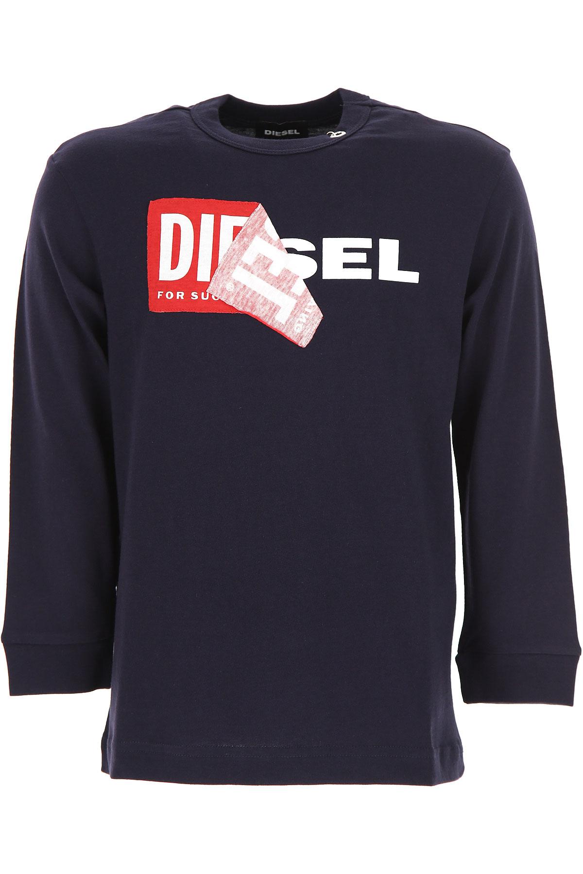 Diesel Kids T-Shirt for Boys, Blue, Cotton, 2017, 10Y 6Y 8Y USA-481003