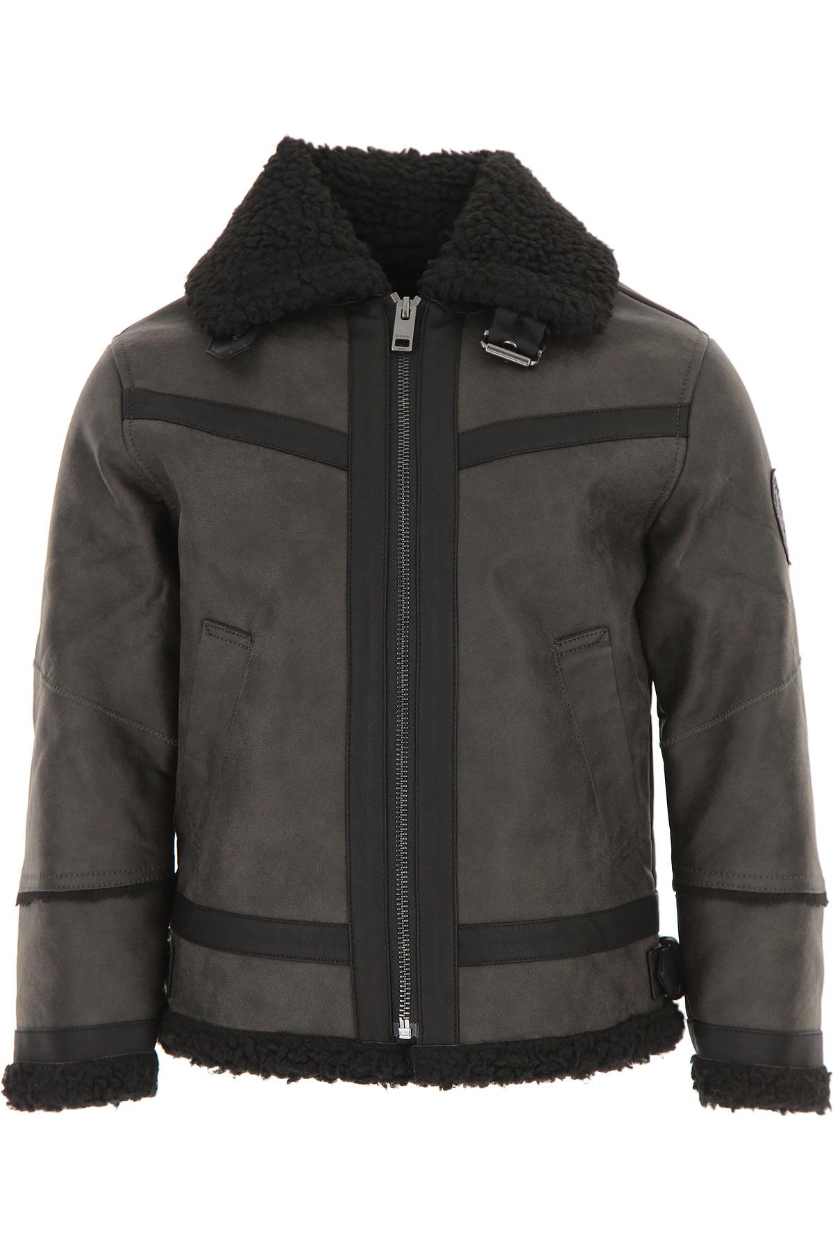Image of Diesel Kids Jacket for Boys, Black, Rayon-Viscose, 2017, 10Y 14Y 6Y 8Y