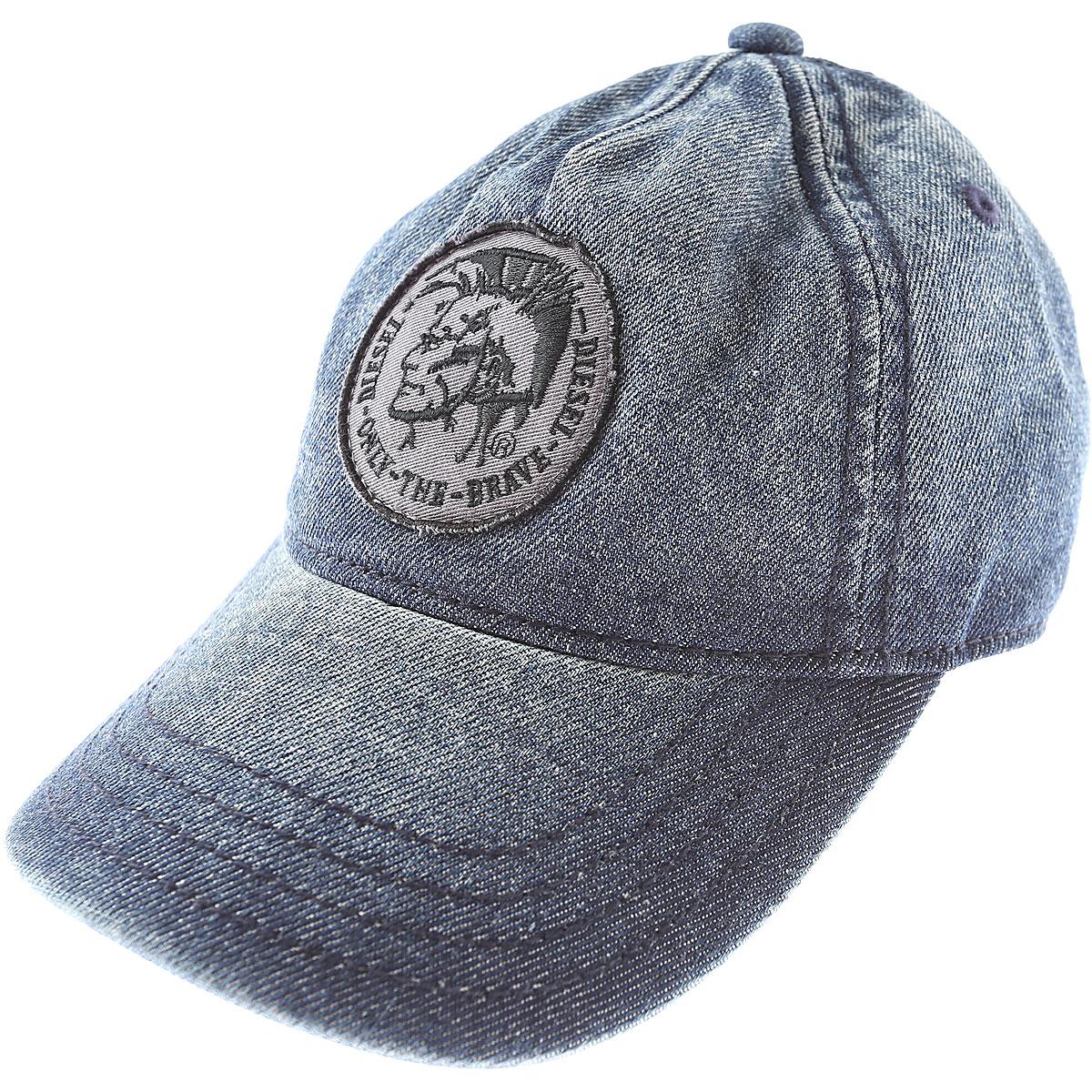 Image of Diesel Kids Hats for Boys On Sale, Blue Denim, Cotton, 2017, I II