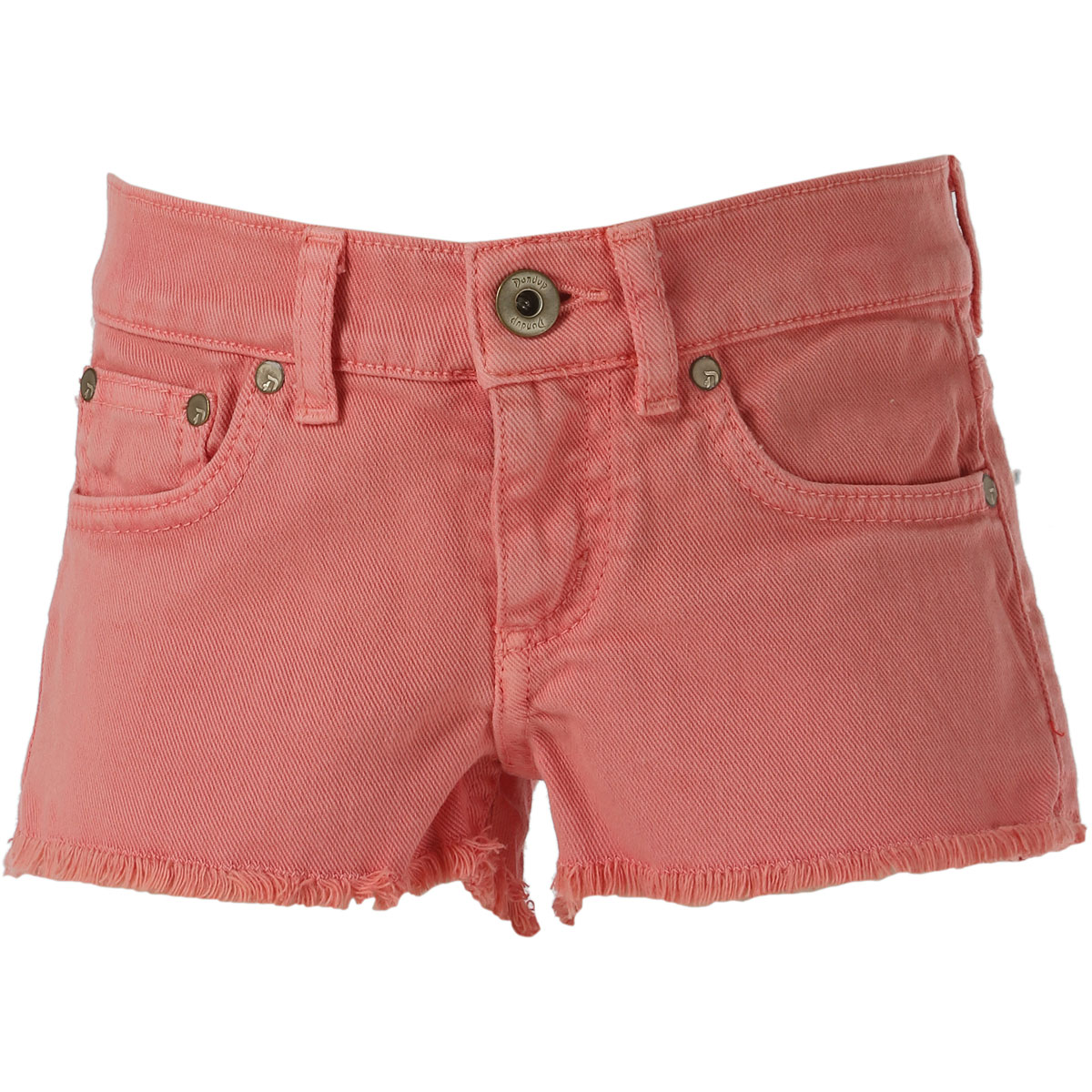 Image of Dondup Kids Shorts for Girls On Sale in Outlet, Alexa, Salmon Pink, Cotton, 2017, 4Y 6Y