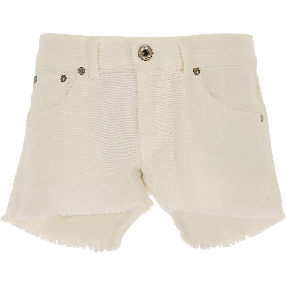 Image of Dondup Kids Shorts for Girls On Sale in Outlet, White, Cotton, 2017, 10Y 8Y