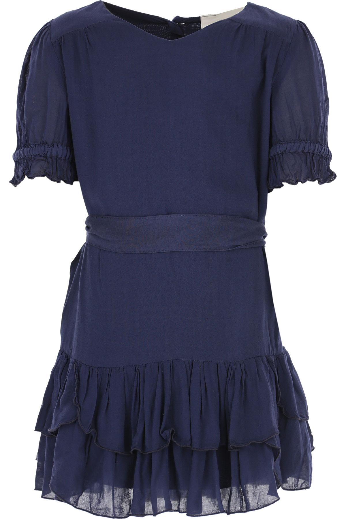 Dondup Girls Dress On Sale in Outlet, Blue, Viscose, 2019, 10Y 6Y