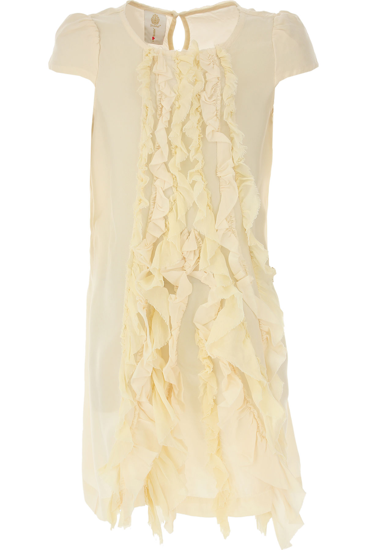 Dondup Girls Dress On Sale in Outlet, Beige, cupro, 2019, 10Y 4Y