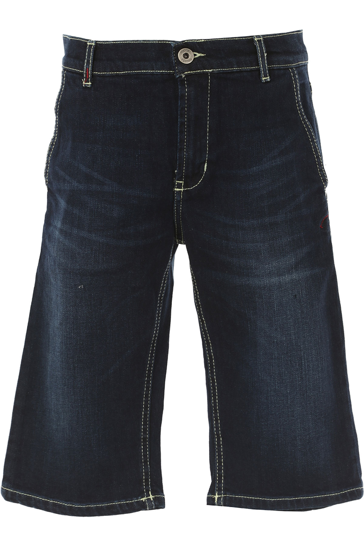 Image of Dondup Kids Shorts for Boys On Sale in Outlet, Bleu Denim, Cotton, 2017, 10Y 4Y
