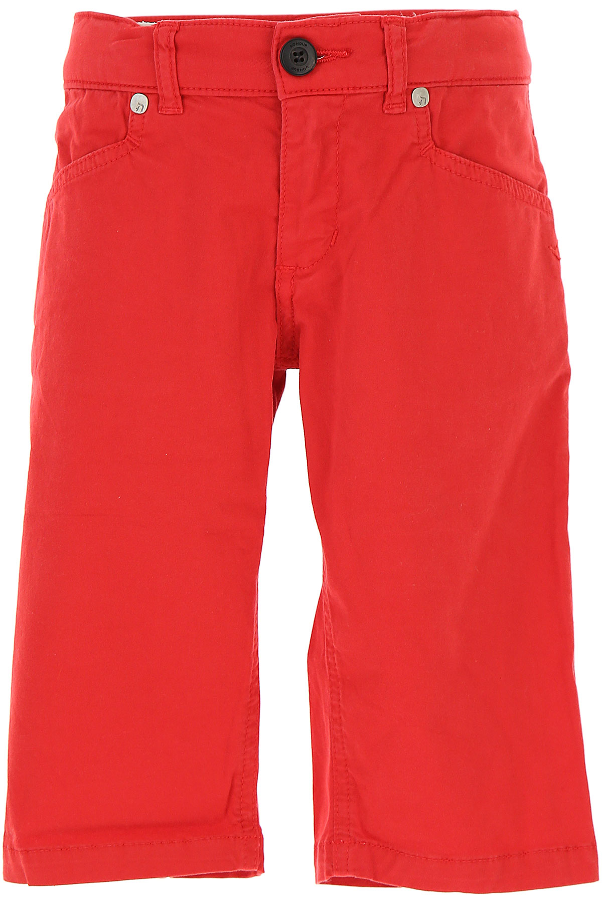 Image of Dondup Kids Shorts for Boys On Sale in Outlet, Red, Cotton, 2017, 10Y 8Y
