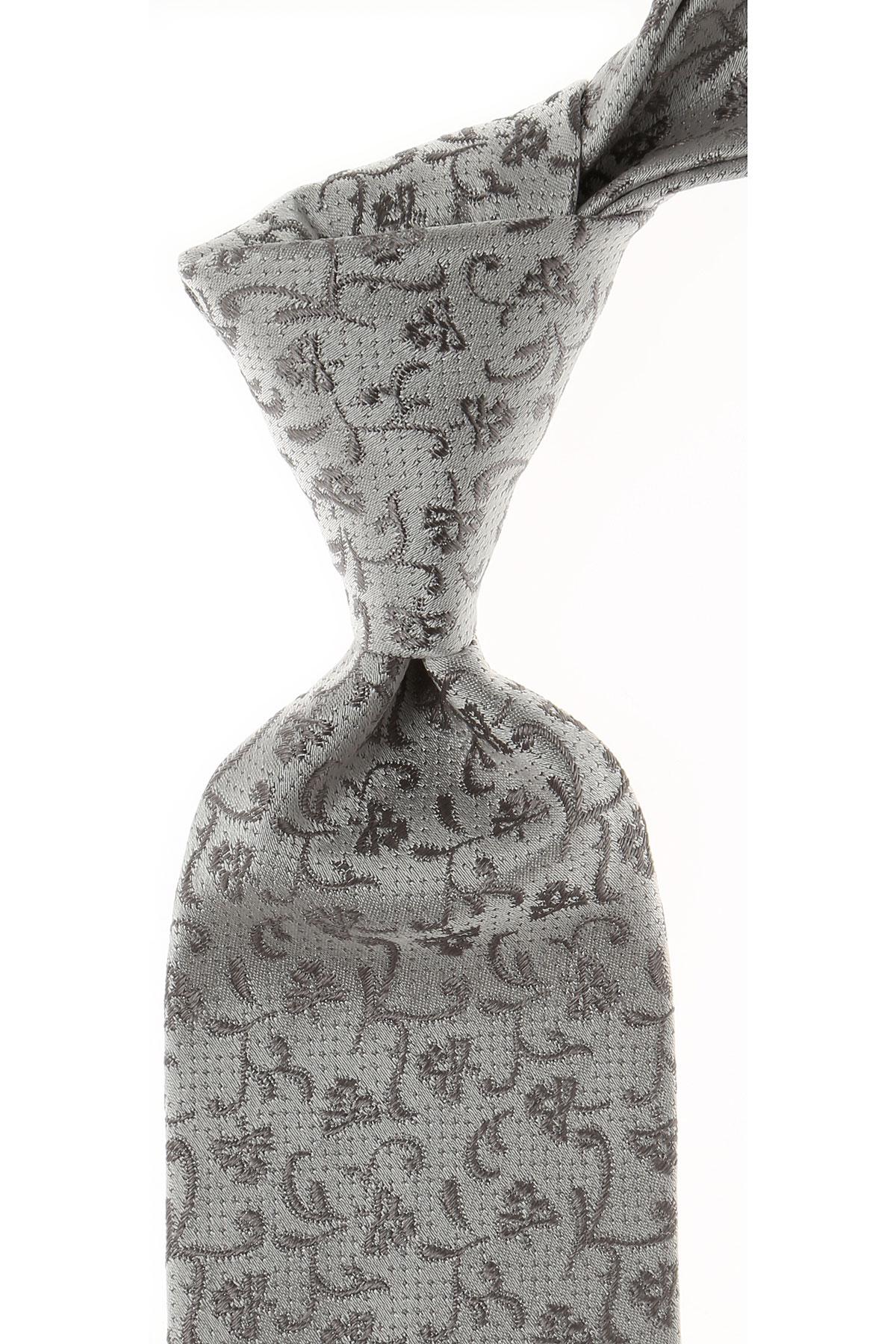 Dolce & Gabbana Cravates Pas cher en Soldes, Gris perle, Soie, 2021