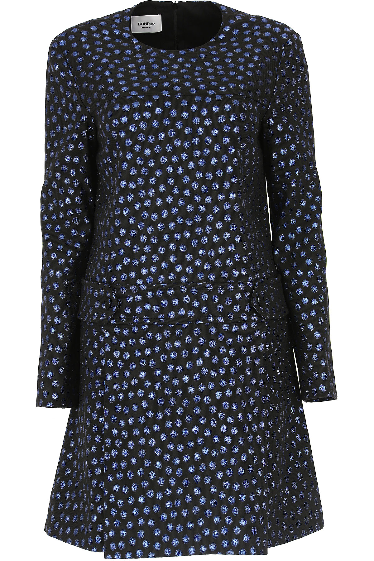 Image of Dondup Dress for Women, Evening Cocktail Party, Black, Viscose, 2017, 4 6 8