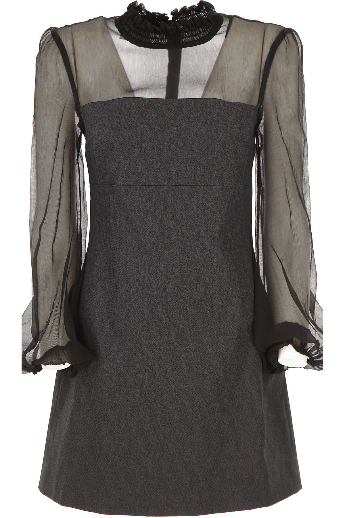Dondup Dress for Women, Evening Cocktail Party On Sale, Black, Cotton, 2019, 2 8