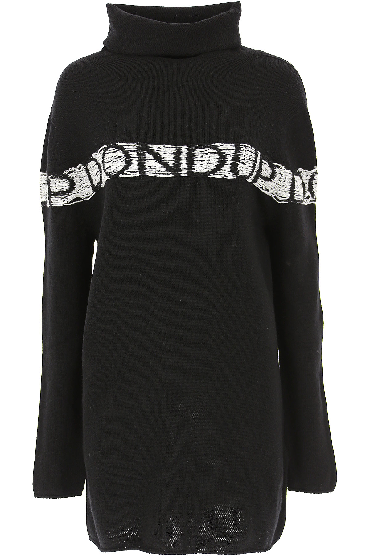 Dondup Dress for Women, Evening Cocktail Party On Sale, Black, Wool, 2019, 4 6
