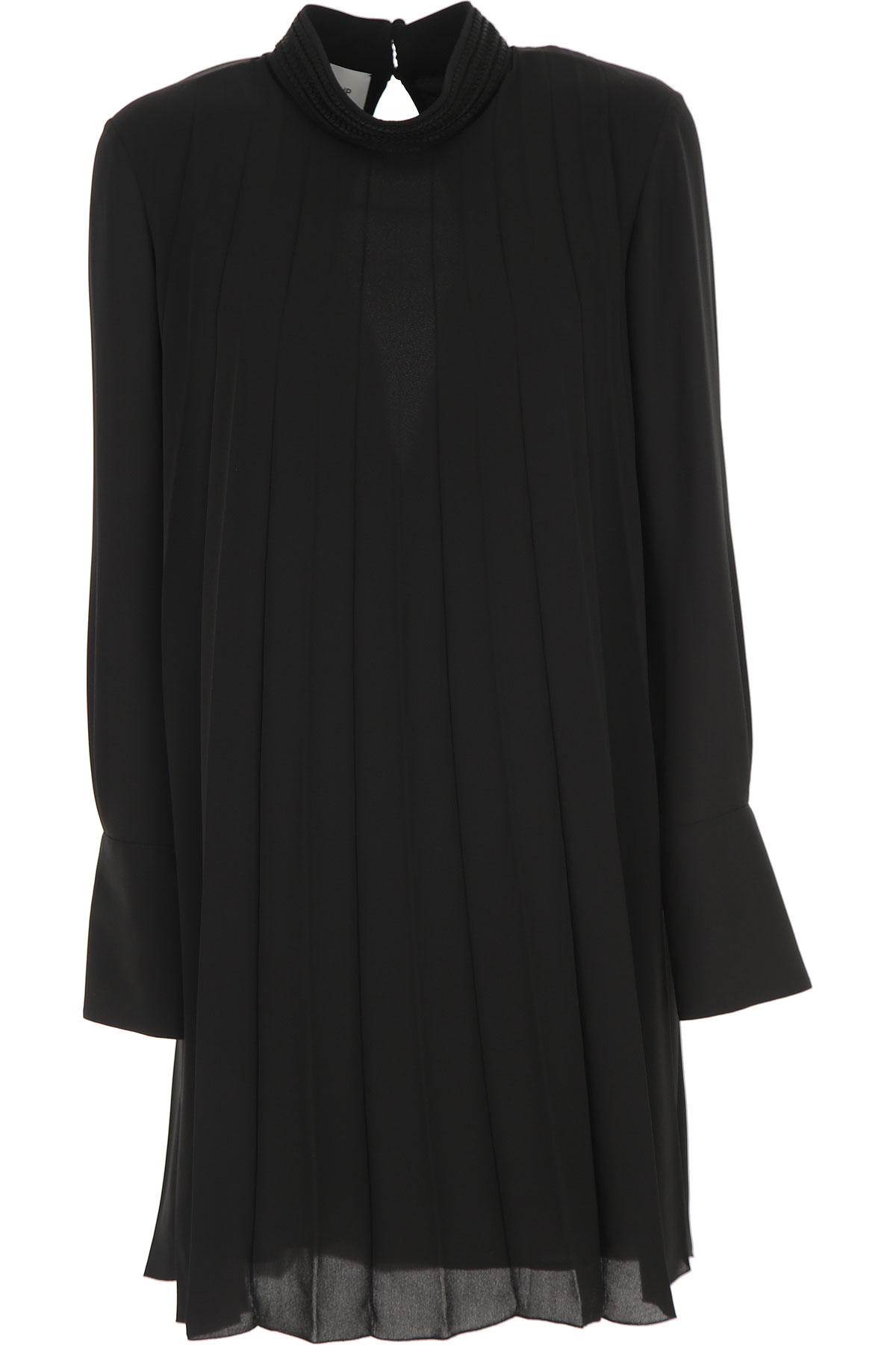 Dondup Dress for Women, Evening Cocktail Party On Sale, Black, polyester, 2019, 6 8