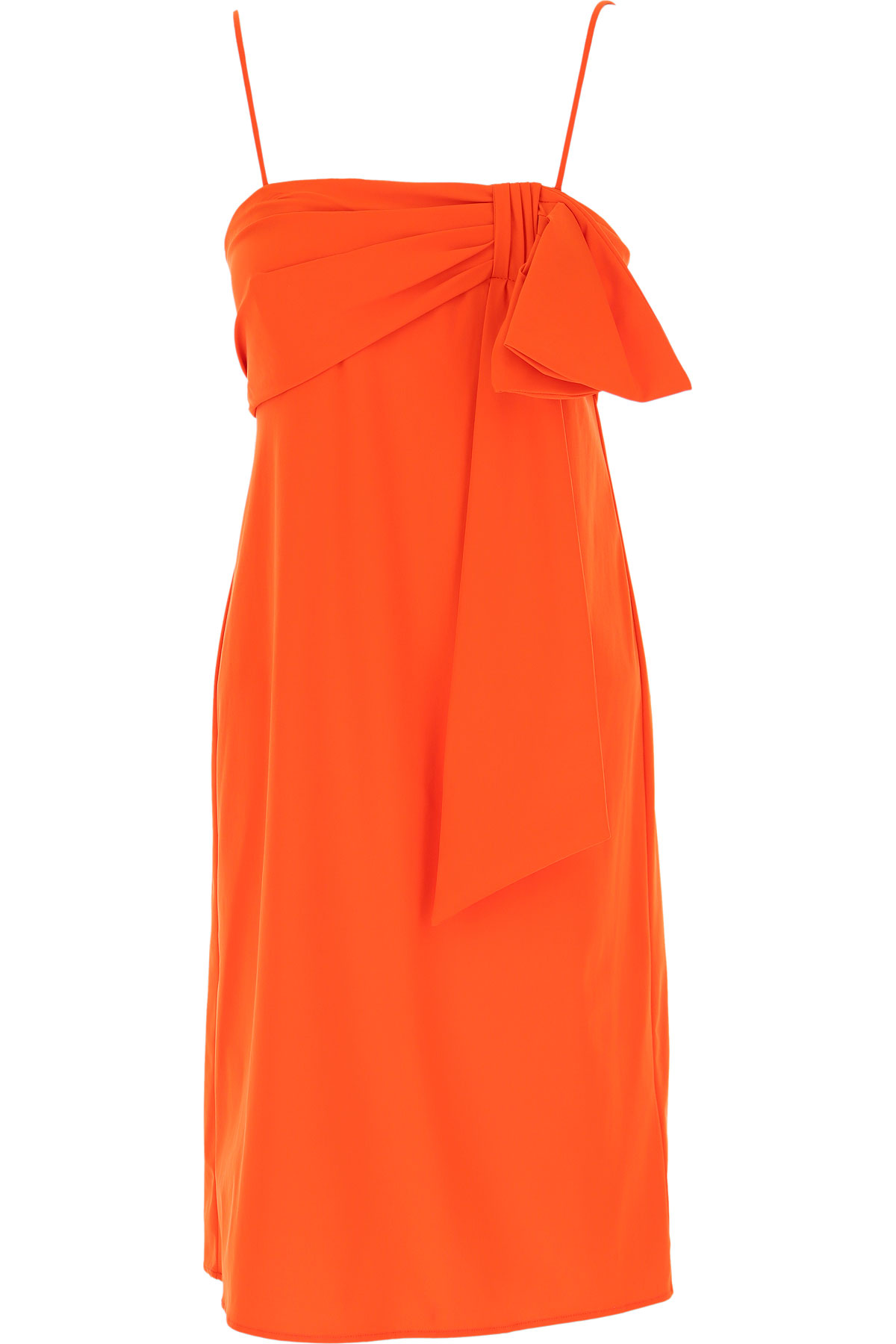 Dondup Dress for Women, Evening Cocktail Party On Sale, orange Fluo, polyamide, 2019, 4 6