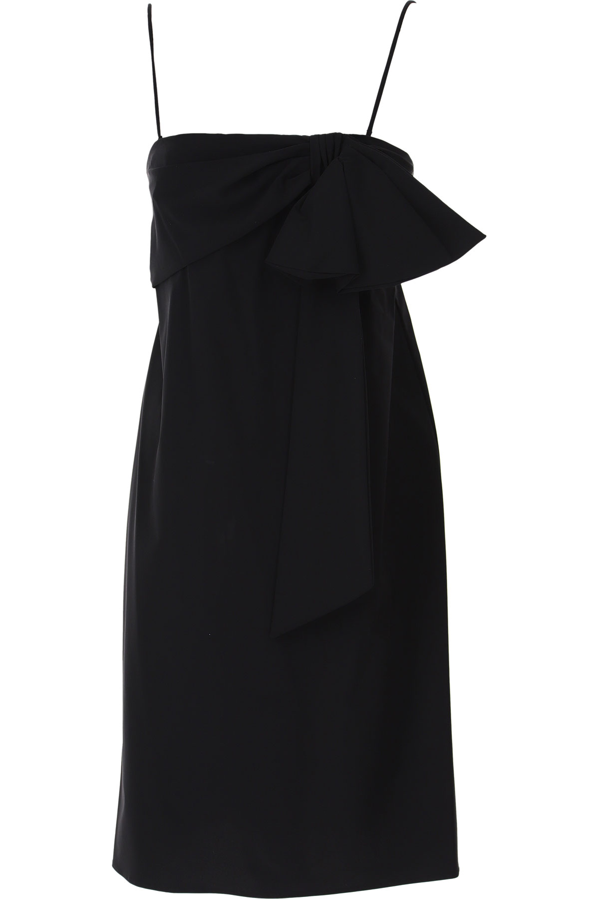 Dondup Dress for Women, Evening Cocktail Party On Sale, Black, polyamide, 2019, 4 6