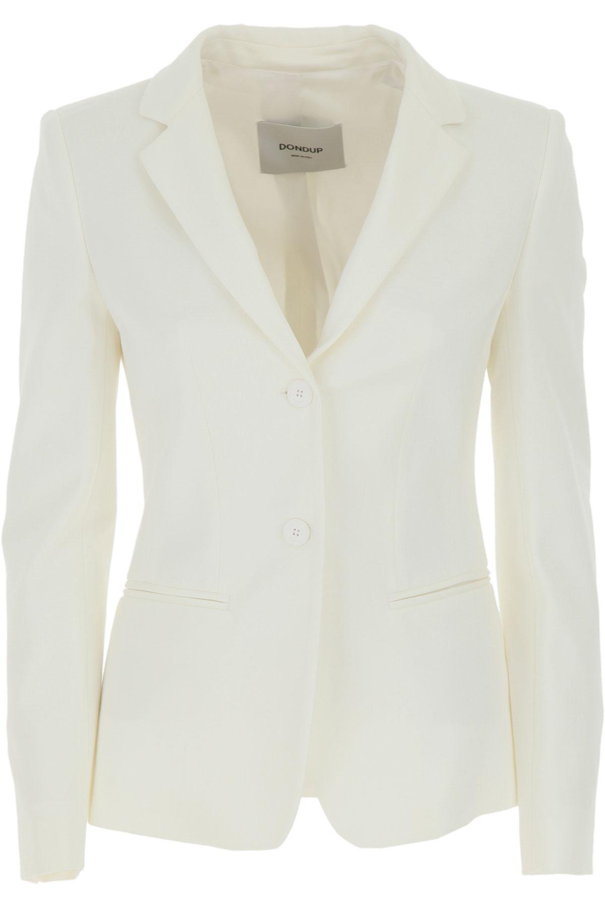 Dondup Blazer for Women On Sale, White, Viscose, 2019, 4 6 8