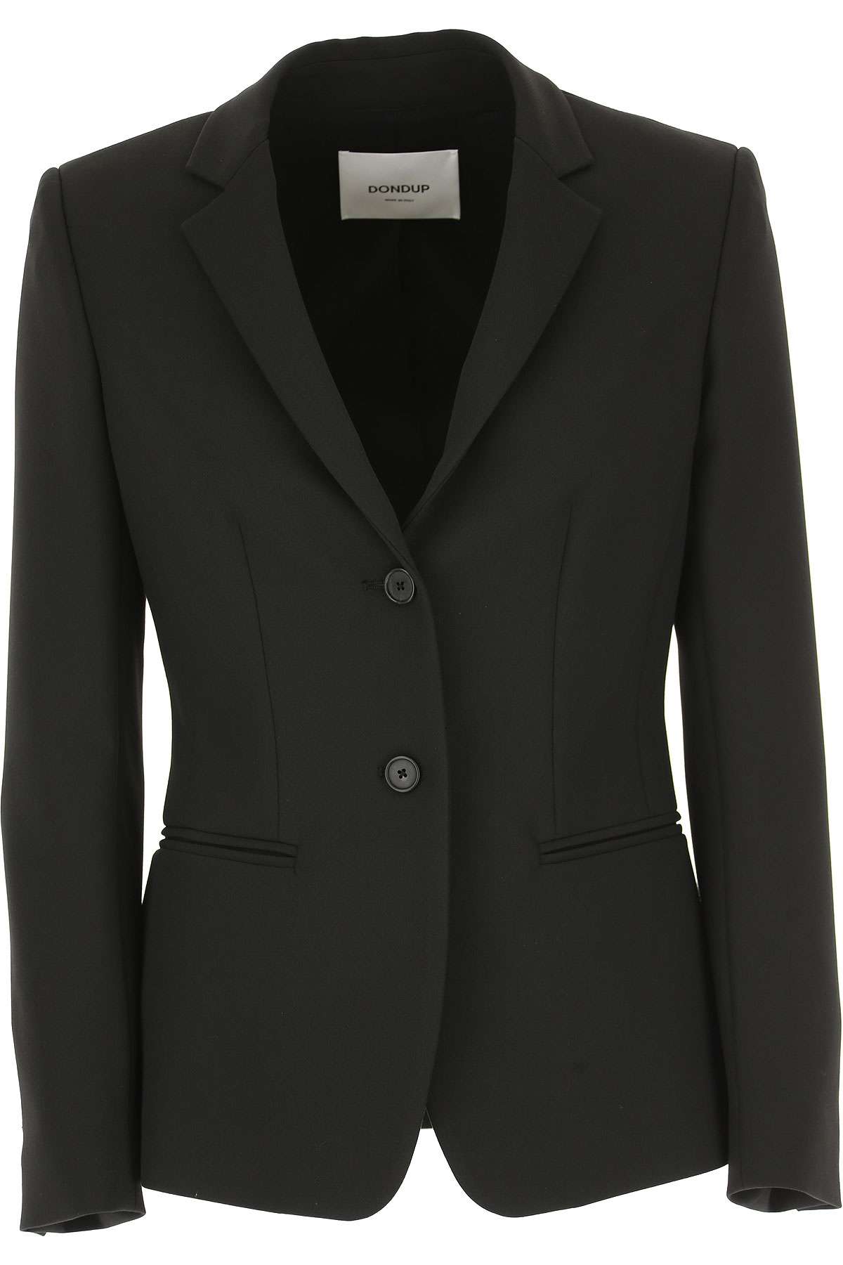 Dondup Jacket for Women On Sale, Black, polyester, 2019, 2 4 6 8