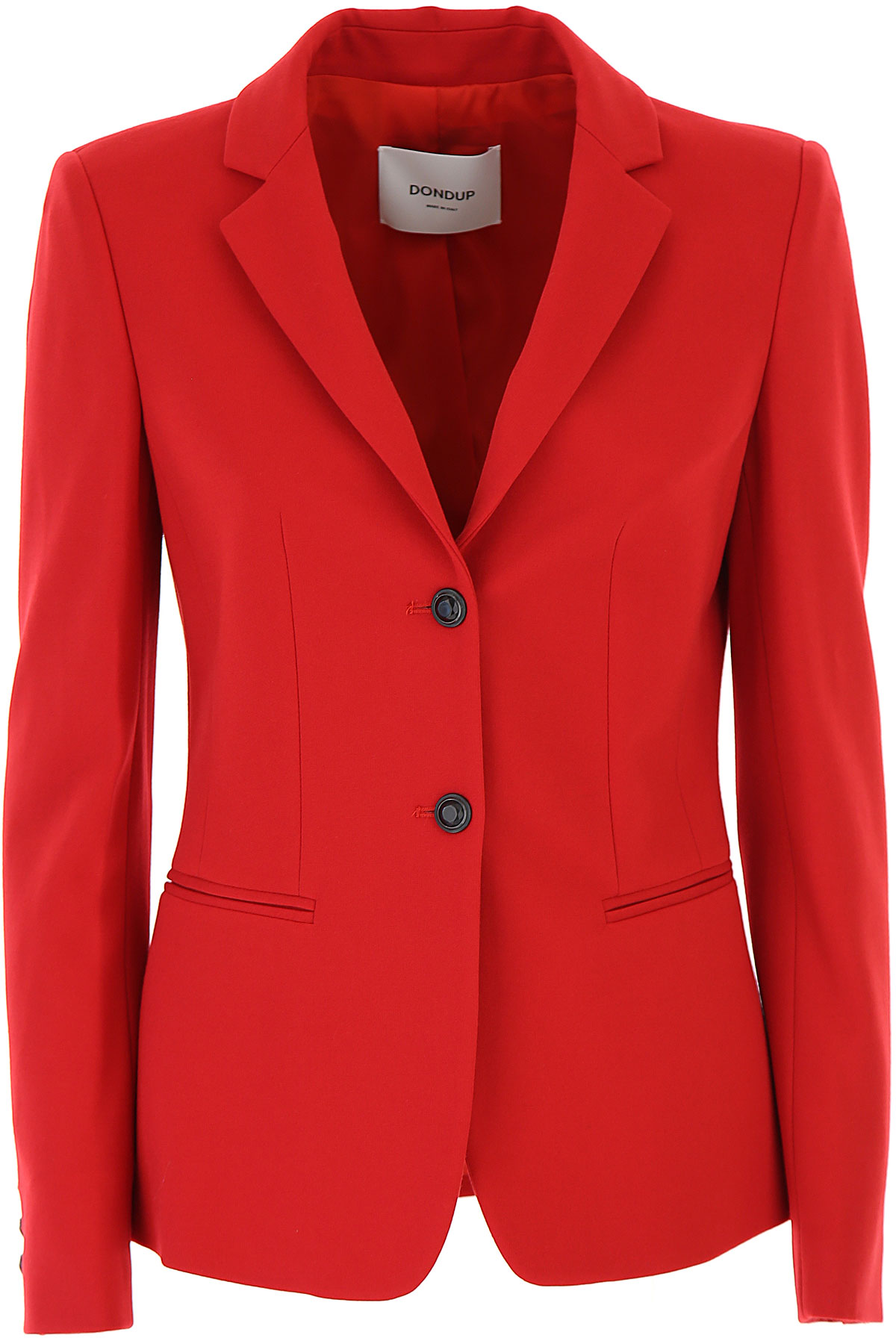 Dondup Blazer for Women On Sale, Fire Red, Viscose, 2019, 2 8