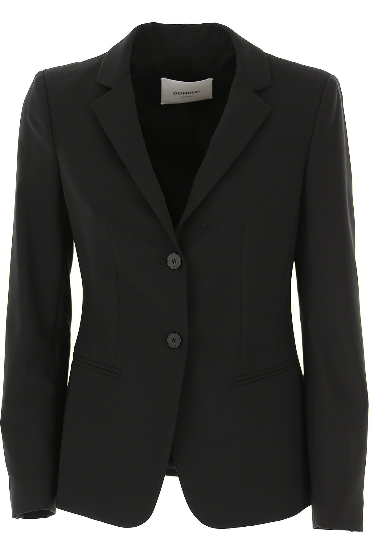 Dondup Blazer for Women On Sale, Black, polyestere, 2019, 4 6 8