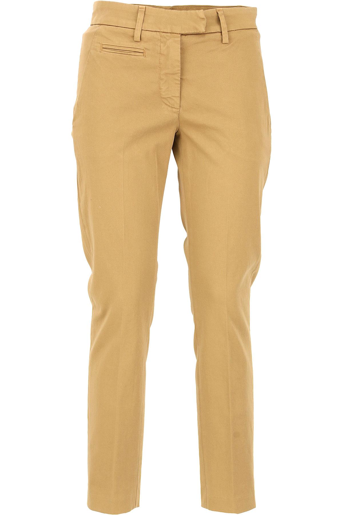 Dondup Pants for Women On Sale, Camel, Cotton, 2017, 25 26 27 28