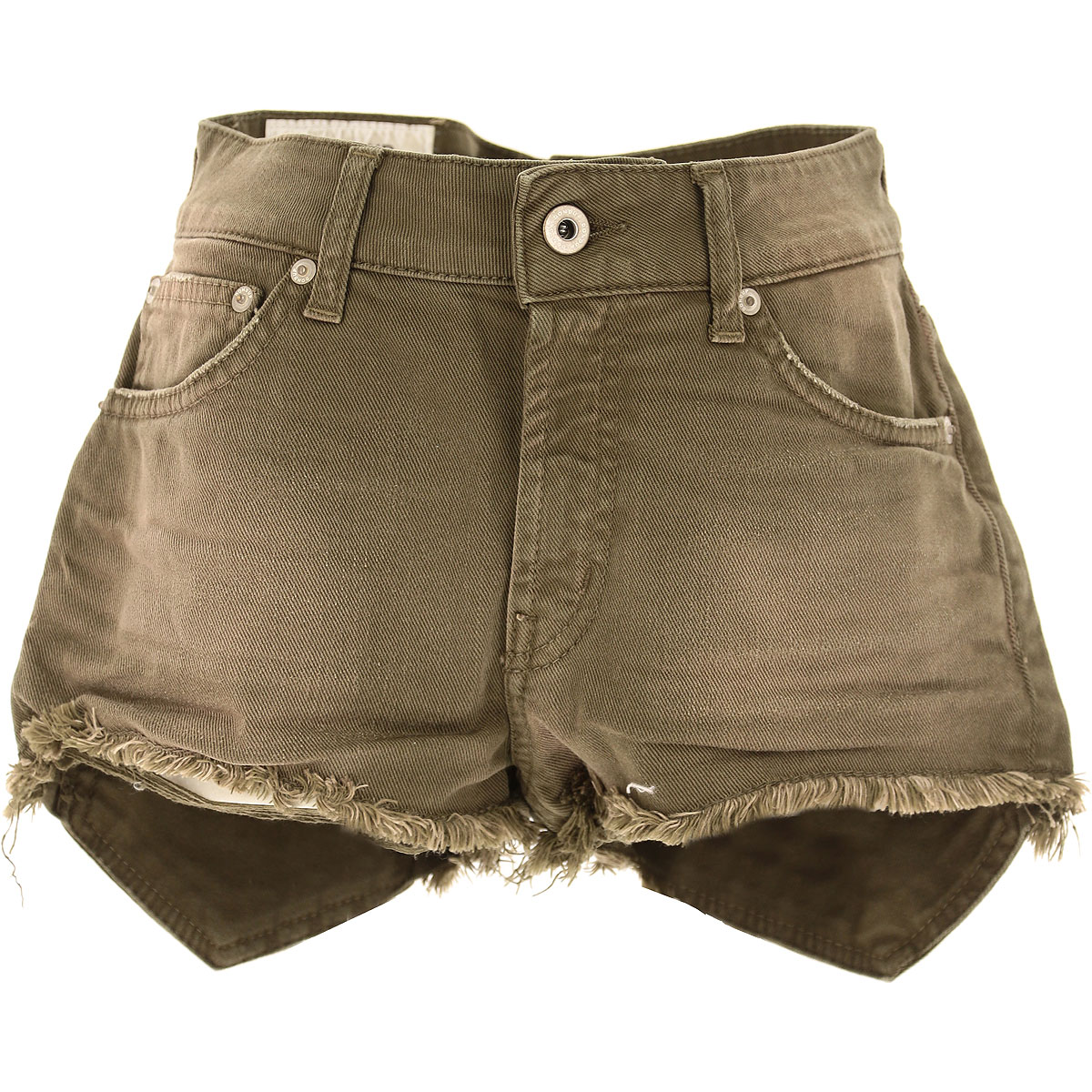 Image of Dondup Shorts for Women On Sale, Dark Olive Green, Cotton, 2017, 25 26 27