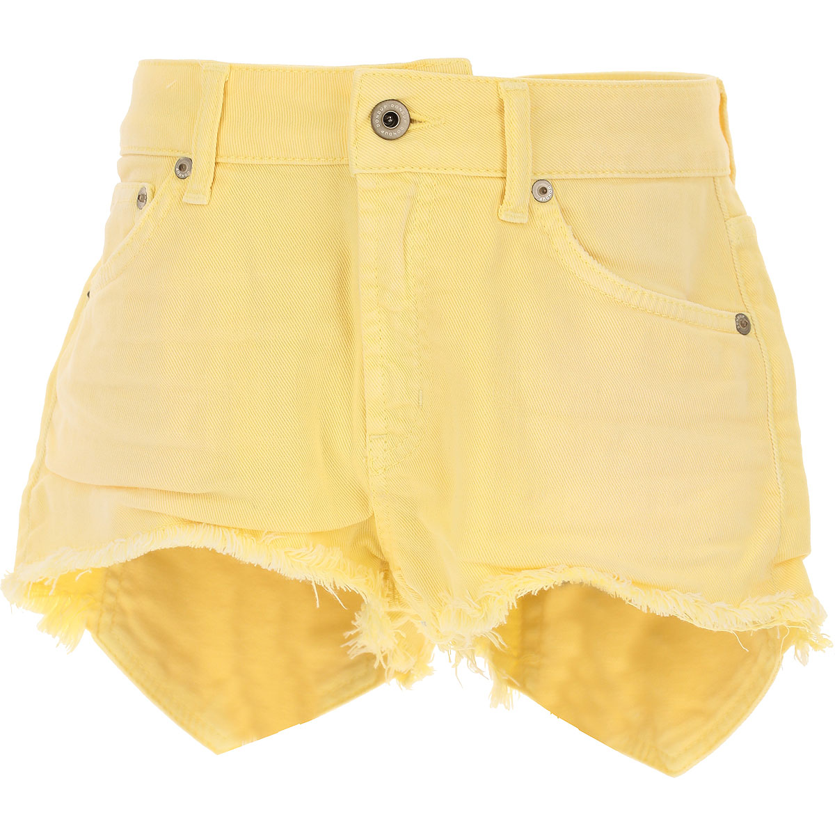 Image of Dondup Shorts for Women On Sale, Yellow, Cotton, 2017, 26 27 28 29 31