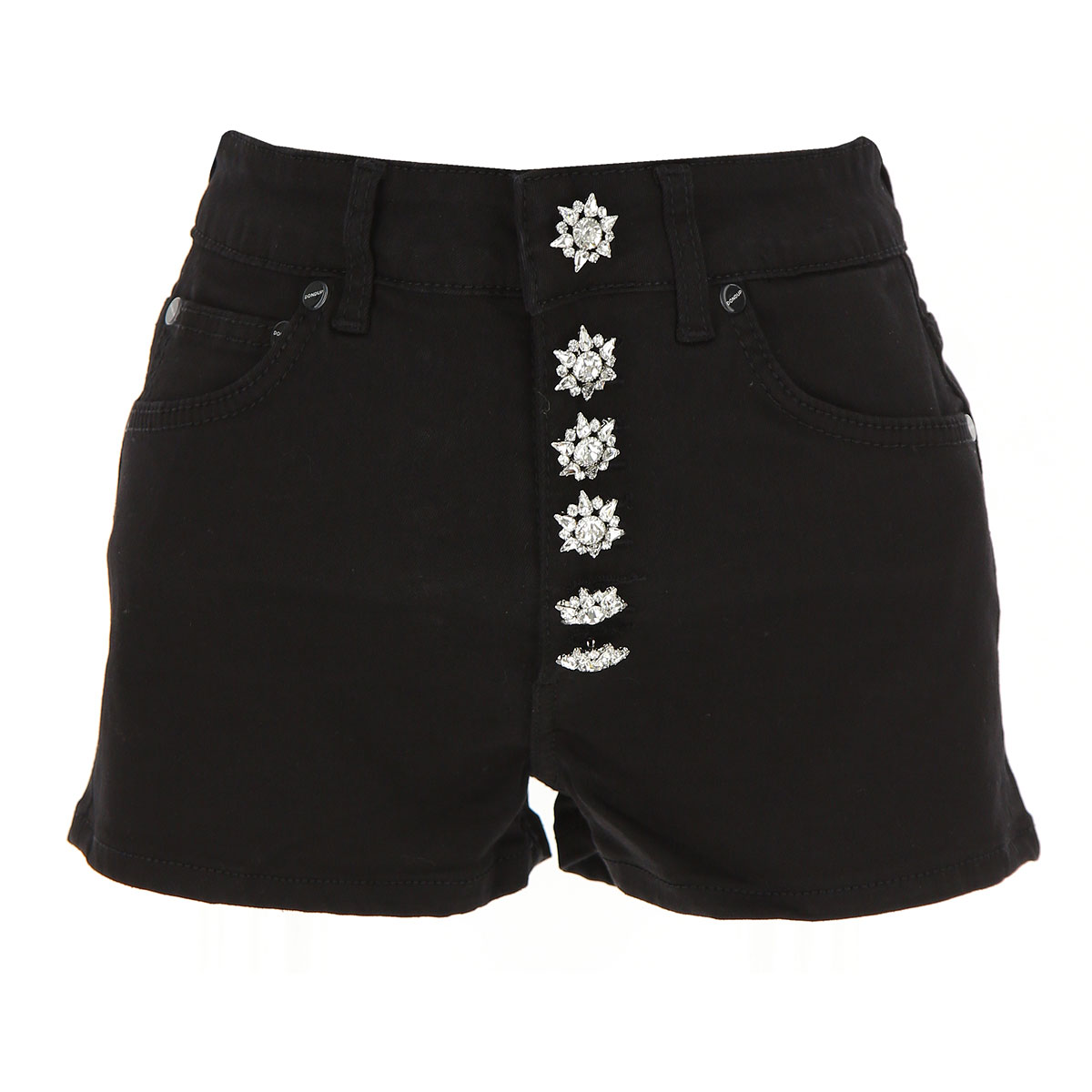 Image of Dondup Shorts for Women On Sale, Black, Cotton, 2017, 25 26 28