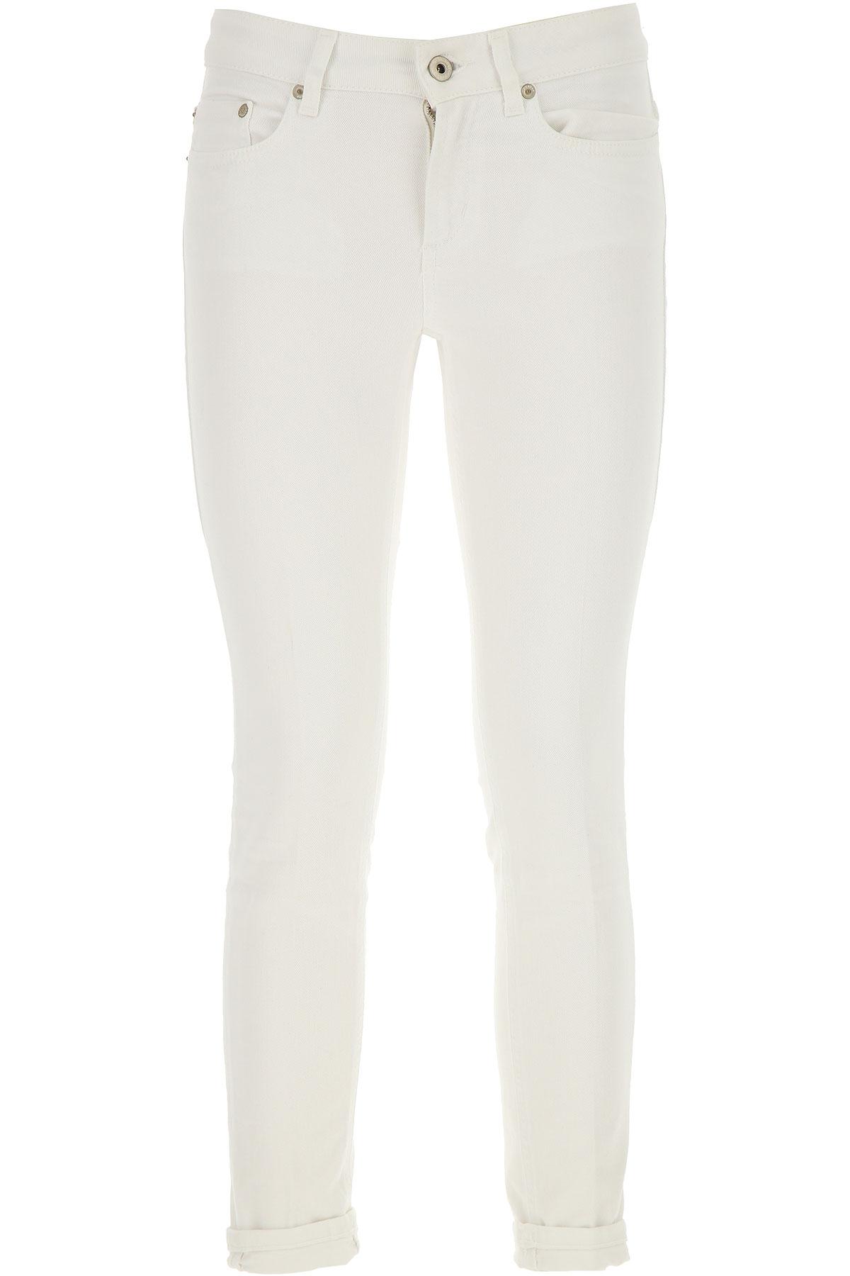 Dondup Jeans, White, Cotton, 2017, 25 26 27 28 29 30