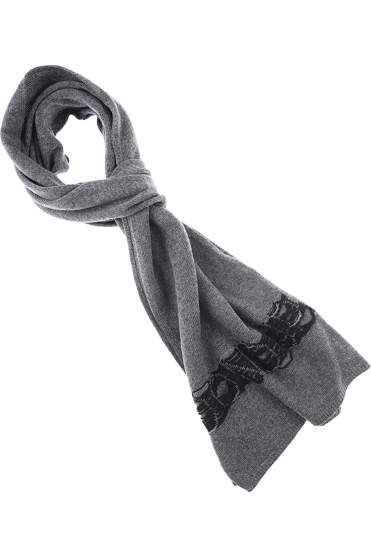 Dondup Scarf for Men, Anthracite Grey, Wool, 2019