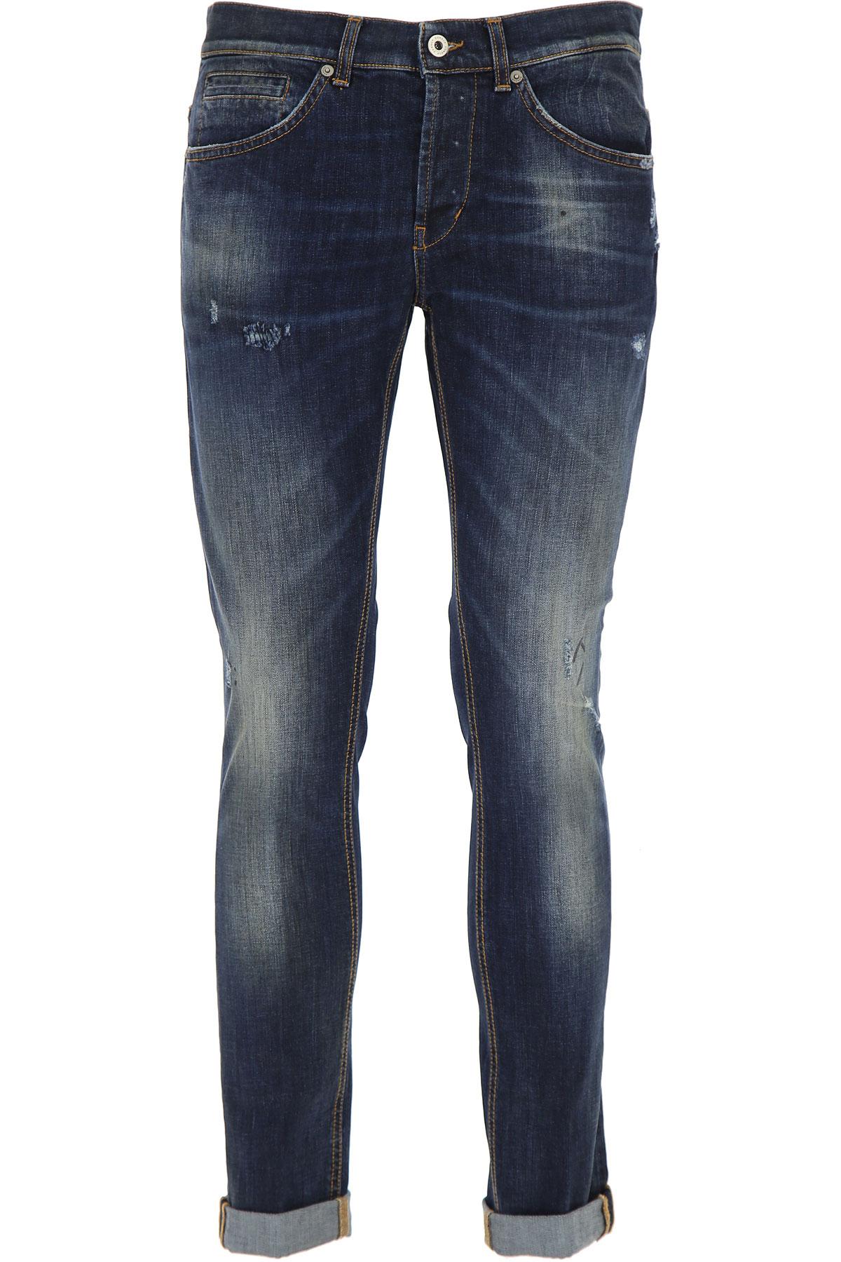 Dondup Jeans, Dark Blue Denim, Cotton, 2019, 29 36 38