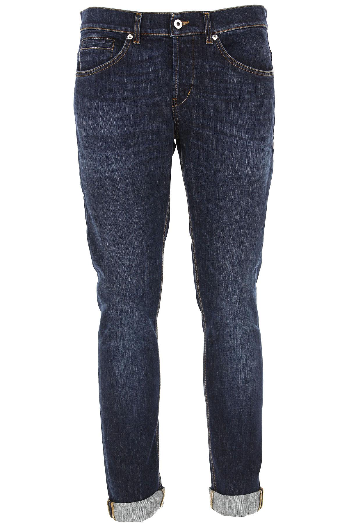 Dondup Jeans, Dark Blue Denim, Cotton, 2019, 30 35
