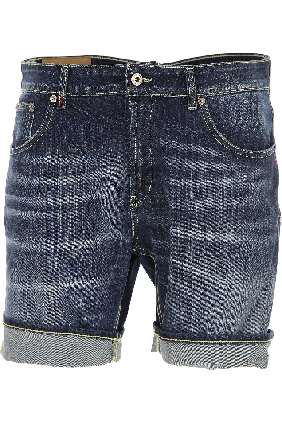 Image of Dondup Shorts for Men On Sale, Blue, Cotton, 2017, 29 32 38