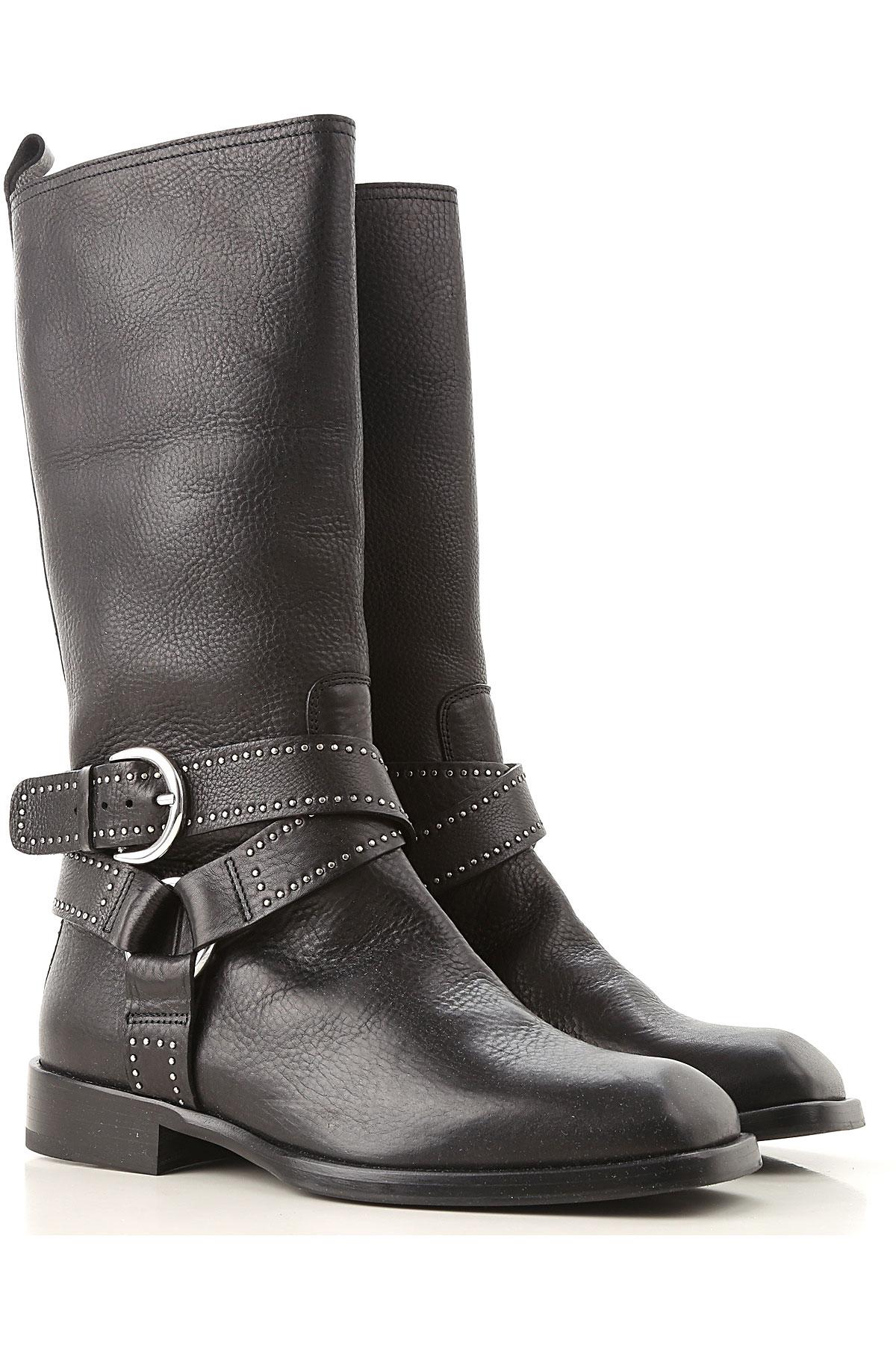 Image of Dondup Boots for Women, Booties, Black, Leather, 2017, 10 6 7 8