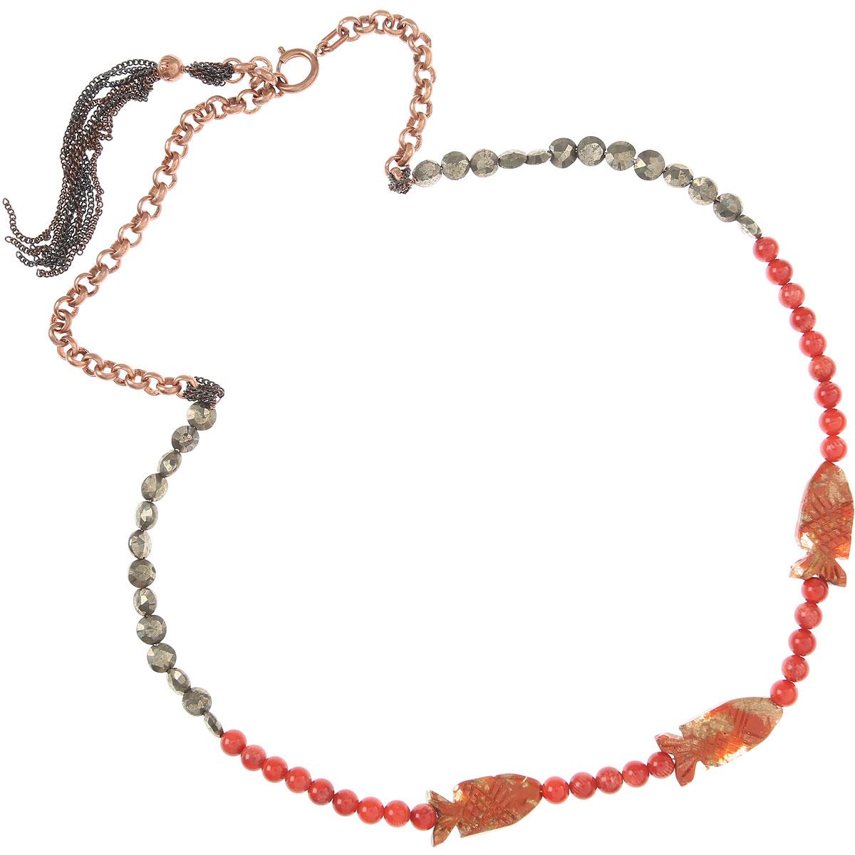 Donatella Pellini Necklaces On Sale, Red, Pyrite, 2019