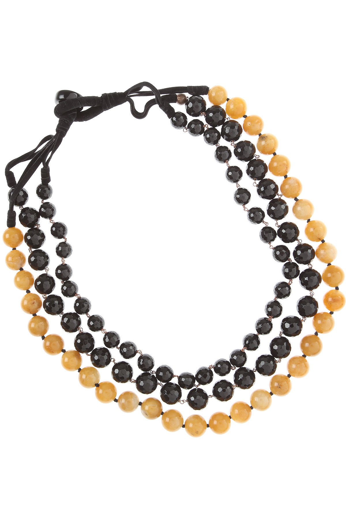 Donatella Pellini Necklaces On Sale, Black, Onix, 2019