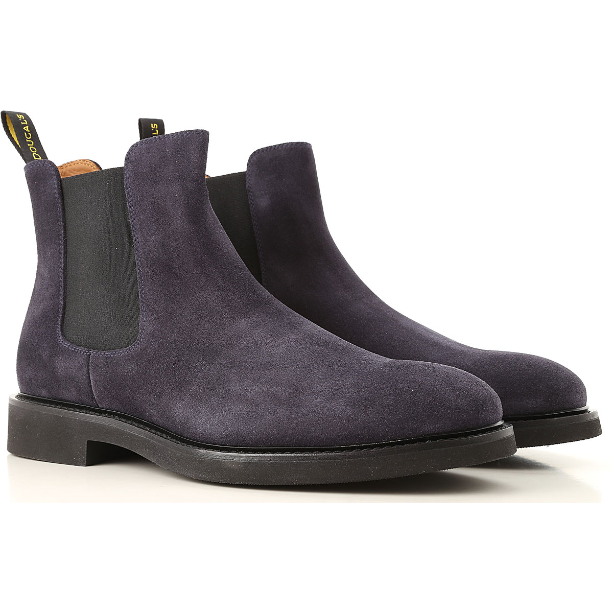 Image of Doucals Chelsea Boots for Men, navy, Suede leather, 2017, 10 10.5 7.5 8 9