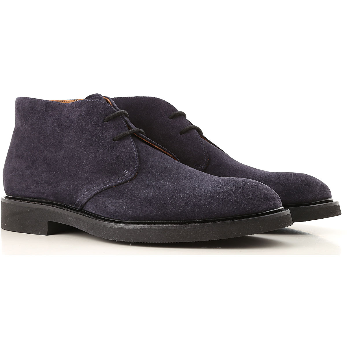 Image of Doucals Desert Boots Chukka for Men, Dark Blue, suede, 2017, 10 10.5 11.5 7.5 8 9