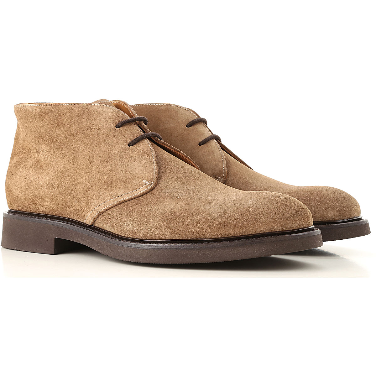 Image of Doucals Desert Boots Chukka for Men, Mink, Suede leather, 2017, 10 10.5 7.5 8 9