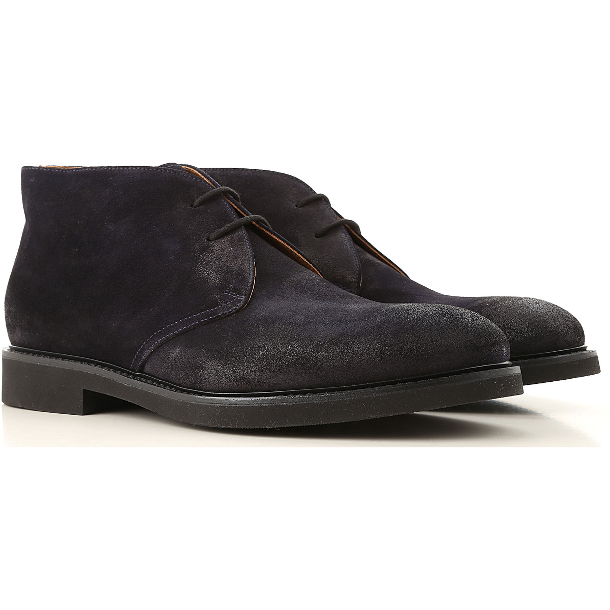 Doucals Desert Boots Chukka for Men, Midnight Blue, Suede leather, 2019, 10 10.5 12 7.5 8 9