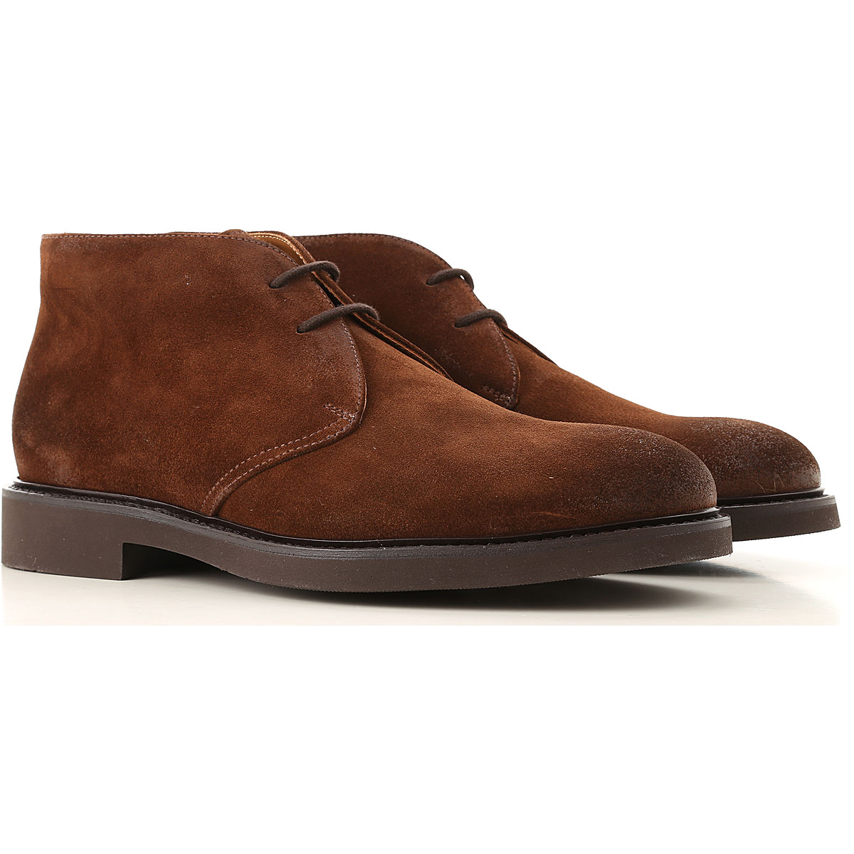 Doucals Desert Boots Chukka for Men, Brown, Suede leather, 2019, 10 12 7.5 8 9