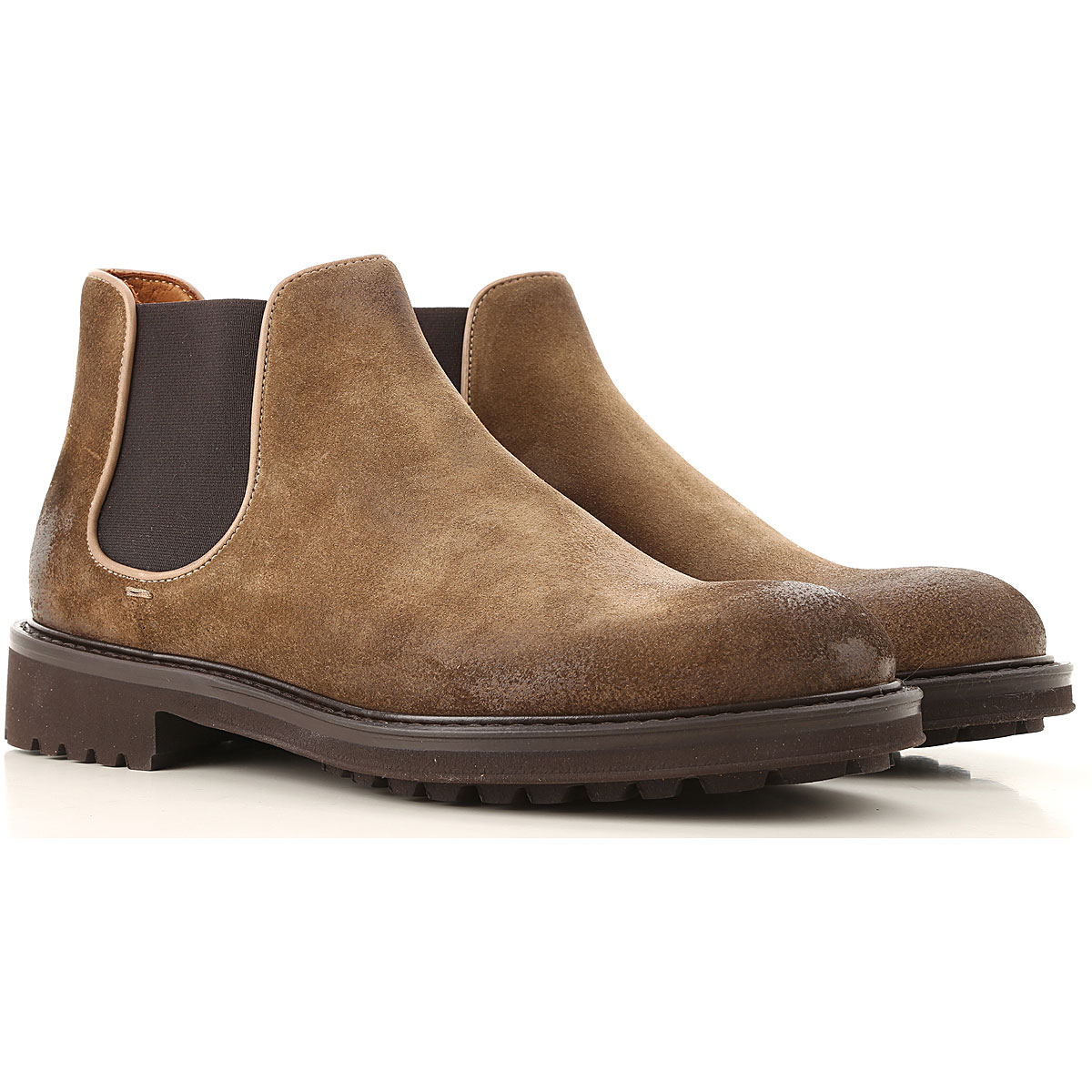 Doucals Chelsea Boots for Men On Sale, Tobacco, Suede leather, 2019, 6.5 9