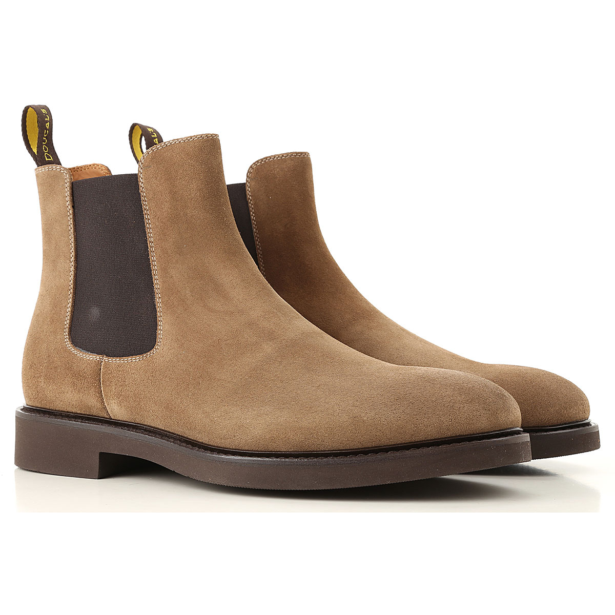Image of Doucals Chelsea Boots for Men, Mink, Suede leather, 2017, 10 10.5 7.5 8 9