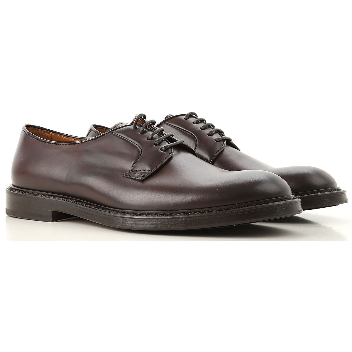 Image of Doucals Lace Up Shoes for Men Oxfords, Derbies and Brogues, Chestnut, Leather, 2017, 10 10.5 7.5 8 9